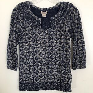 Lucky Brand Top Size XS Boho Style